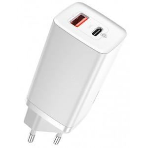 СЗУ Baseus GaN2 Lite Quick ChargerC+U 65W EU White CCGAN2L-B02
