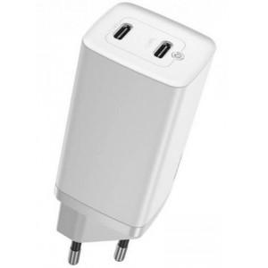 СЗУ Baseus GaN2 Lite Quick ChargerC+C 65W EU White CCGAN2L-E02