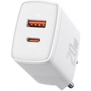 СЗУ Baseus Compact Quick Charger U+C 20W EU White CCXJ-B02