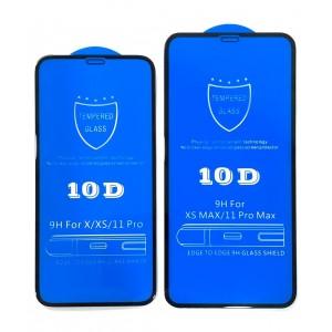 Защитное стекло 10D for iPhone XR/11 black тех упаковка