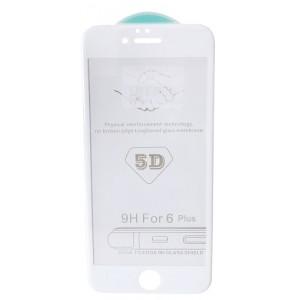 стекло 5D Strong for iPhone 6+ white тех. пак.