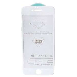 стекло 5D Strong for iPhone 7+/8+ white тех. пак.