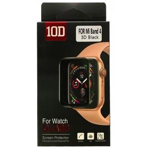 Защитное стекло 10D PET+ PMMA for Mi Band 5 black Retail Box