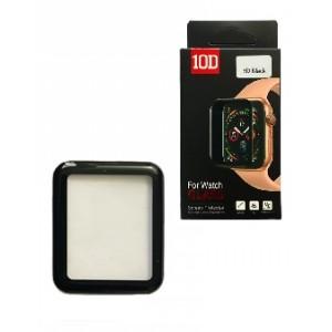 Защитное стекло 10D PET+ PMMA for Watch 38 mm black Retail Box