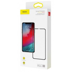Baseus (SGAPIPH61-KC01) 0.3mm Full-screen Tempered Glass Screen Protector For iP XR/11 Black