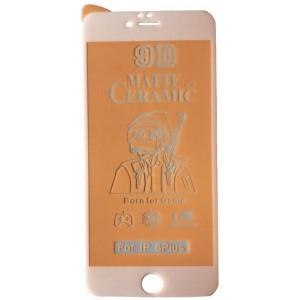 Защитное стекло Ceramic MATTE iPhone 6+/6S+ White тех упак