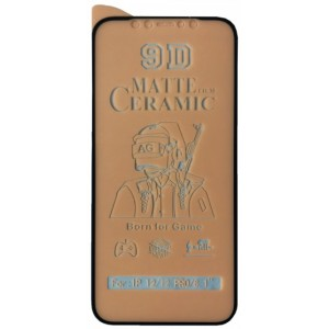 Защитное стекло Ceramic MATTE iPhone 12/12 Pro Black тех упак