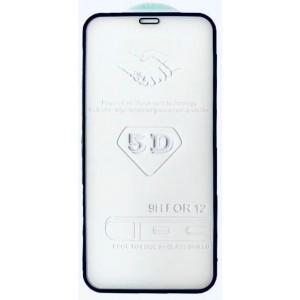 стекло 5D Strong for iPhone 12 mini (5.4'') black тех. пак.