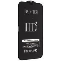 Защитное стекло PRO-FLEXI HD+ for iPhone 12 /12 Pro (6.1'') Black тех упаковка