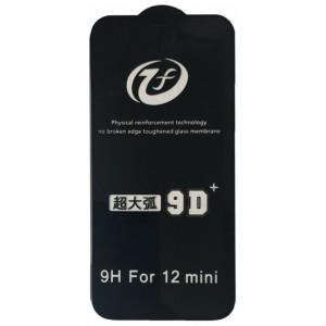 Защитное стекло iPhone 9D+ iPhone 12 mini (5.4 ) black тех упаковка