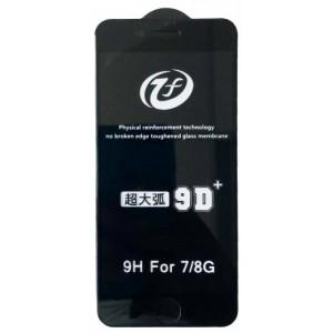 Защитное стекло iPhone 9D+ iPhone 7/8 black тех упаковка