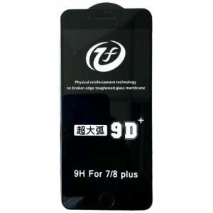 Защитное стекло iPhone 9D+ iPhone 7P/8P black тех упаковка
